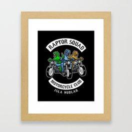 Jurassic Raptor Squad World Framed Art Print