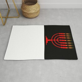Menorh With Seven Candles Rug