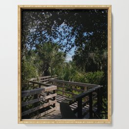 Boardwalk on Cumberland Island Serving Tray