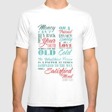 Satisfied Mind Mens Fitted Tee White SMALL