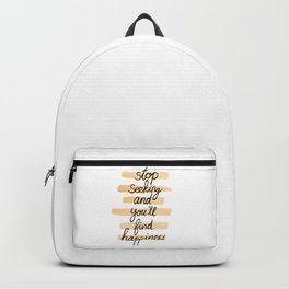 Seeking Happiness Backpack