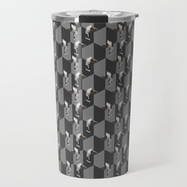 Cubicles Pattern Travel Mug