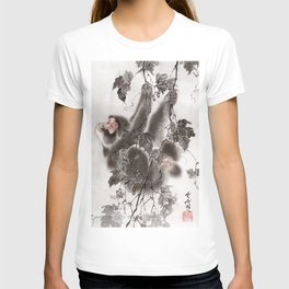 Monkey Hanging from Grapevines T-shirt