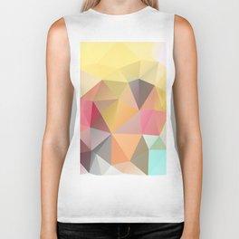Polygon print bright colors Biker Tank