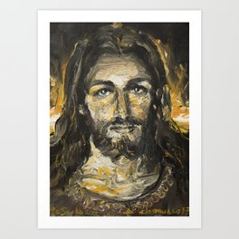 I am the light of the world. (Faustina's Vision) Art Print