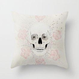 SakuraSkull Throw Pillow