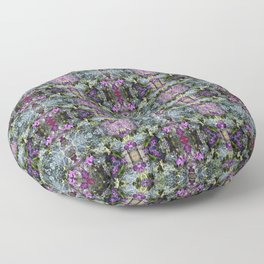 Abstract Floral Pattern Floor Pillow
