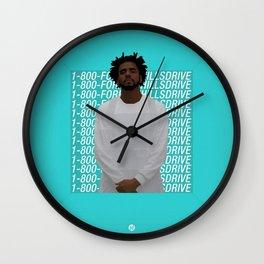 J Cole art Wall Clock