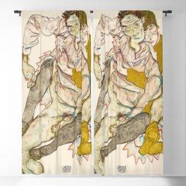 Egon Schiele - Seated Couple Blackout Curtain