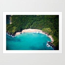 Turquoise Beach Art Print