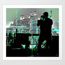 Big Sam (Trombone Man) Art Print