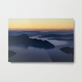 The glow of the lake Metal Print