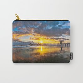 HB Sunsets - Sunset At The Huntington Beach Pier  3/13/16 Carry-All Pouch