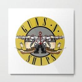 guns n ships Metal Print
