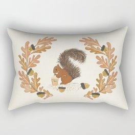 Pumpkin Spice Squirrel Rectangular Pillow