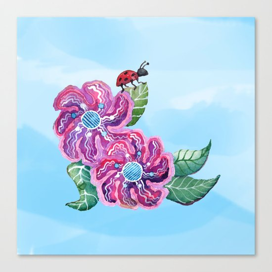 Contemplative Ladybug Canvas Print