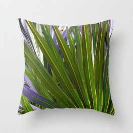Saw Palmetto Tropicale Throw Pillow