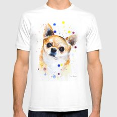 Chihuahua Mens Fitted Tee MEDIUM White