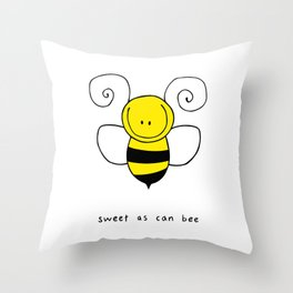 Sweet As Can Bee Throw Pillow