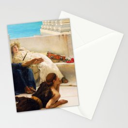 Lawrence Alma-Tadema - A Reading From Homer1 - Digital Remastered Edition Stationery Cards