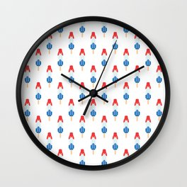 Popsicle Pattern - Rocket Pop #134 Wall Clock