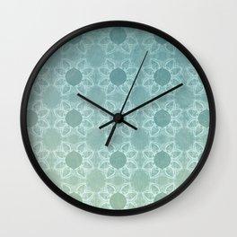 Elegance in Teal Wall Clock