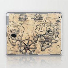 Old Nautical Map Laptop & iPad Skin