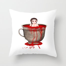 Cup of Blood Throw Pillow