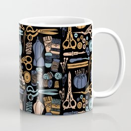 Sewing Notions Block Print Coffee Mug