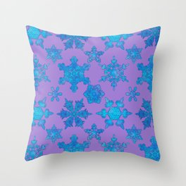 White Winter Hymnal Throw Pillow
