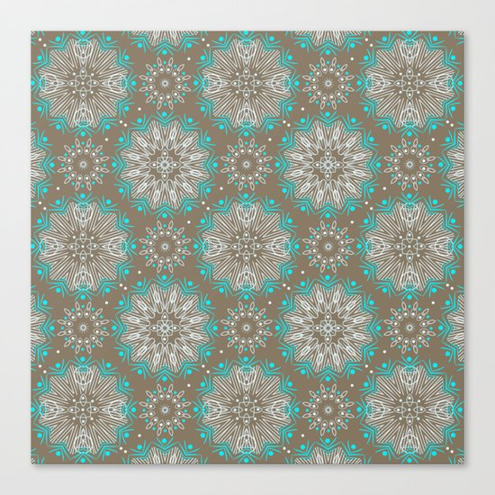 Brown turquoise bling . Canvas Print