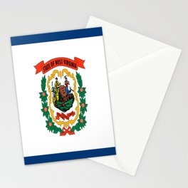 flag west virginia,america,us,south,Mountain, Virginian,Charleston,Huntington,Morgantown,Parkersburg Stationery Cards