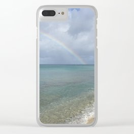 Rainbow in St. Croix Clear iPhone Case
