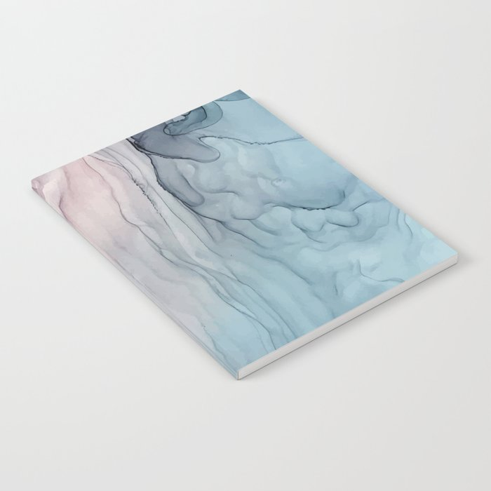 Calming Pastel Flow- Blush, grey and blue Notebook