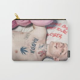 Lil Peep Come Over When You're Poster Print Home Bedroom Wall Decor Themed Gift No Frame Carry-All Pouch