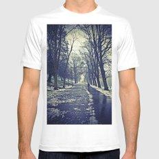 A walk through the park I MEDIUM White Mens Fitted Tee