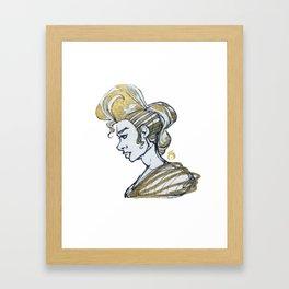 Golden Power Framed Art Print