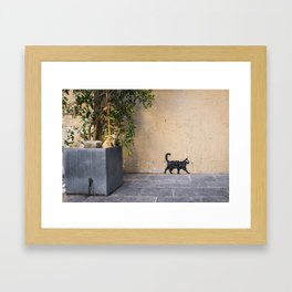 Keep walkin' Framed Art Print