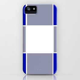 TEAM COLORS 3 ....BLUE ,GRAY iPhone Case