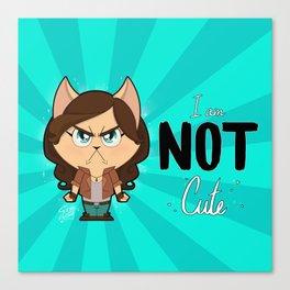 I am NOT cute (Full body + text) Canvas Print