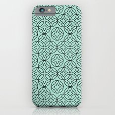 Ancient Pattern Illustration in Blue Slim Case iPhone 6s