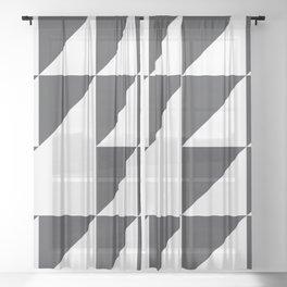 Black & White Geometry Sheer Curtain