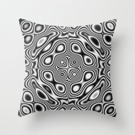 Abstract kaleidoscopic pattern Throw Pillow