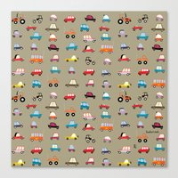 cars Canvas Prints featuring Cars by Marcelo Badari