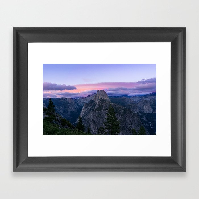 Yosemite National Park at Sunset Gerahmter Kunstdruck