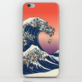 The Great Wave of Pug iPhone Skin