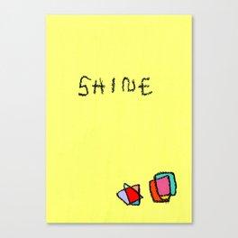 Shine - minimal illustration minimalist painting Canvas Print