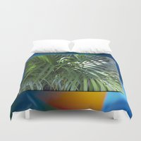 palm Duvet Covers featuring palm by Hannah Siegfried