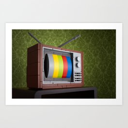 57 Channels and Nothing On Art Print