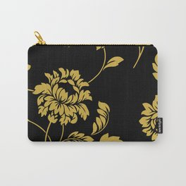 Victorian Floral (Black & Gold) Carry-All Pouch